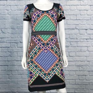 CALVIN KLEIN | Geometric Patterened Dress Size 10